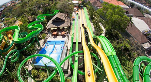 Slide and splash at Waterbom Bali