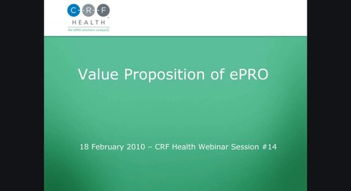Value Proposition of ePRO