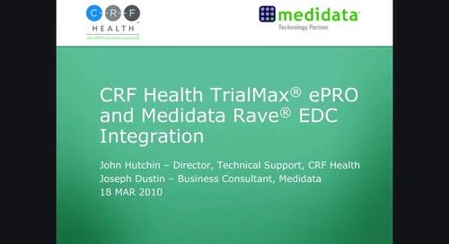 TrialMax® ePRO and Medidata Rave® EDC Integration