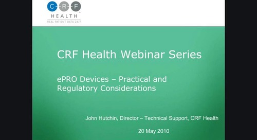 ePRO Devices: Practical and Regulatory Considerations