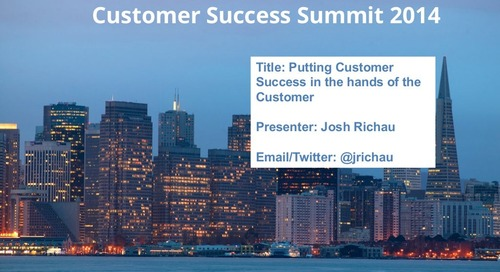 Putting Customer Success in the hands of the customer
