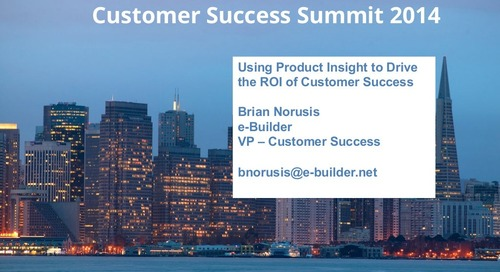 Using product insight to drive the ROI of Customer Success