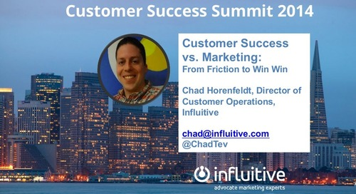 Customer Success vs Marketing: Friction to win-win