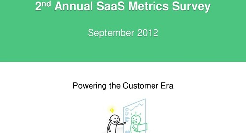 2012 Annual SaaS Metrics Survey Results