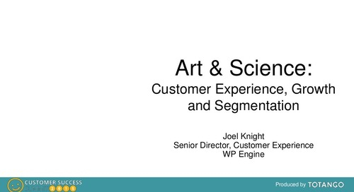 THE ART AND SCIENCE OF CUSTOMER EXPERIENCE, GROWTH AND SEGMENTATION