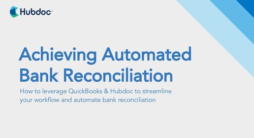 Achieving Automated Bank Reconciliation with Hubdoc and QuickBooks
