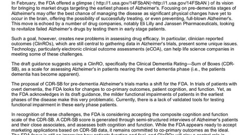 Applied Clinical Trials: Treating Alzheimer's Early
