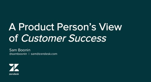 A Product Person's View of Customer Success