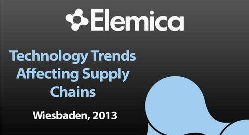 "inSIGHT 2013 EU ""Technology Enabling Next Generation Supply Chains"""