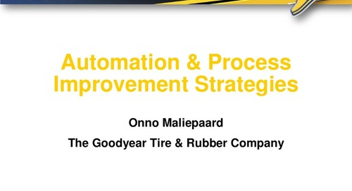 "Onno Maliepaard ""Automation & Process Improvement Strategies"""