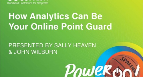 Analytics: Your Online Point Guard