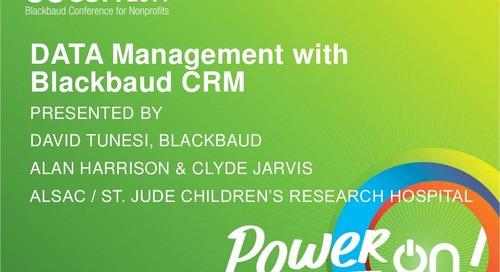 Big Data Management with Blackbaud CRM