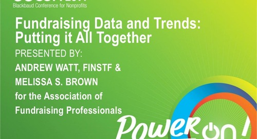 Fundraising Data & Trends: Putting It All Together