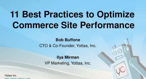 Webinar: Best practices to optimize commerce site performance (Slides)