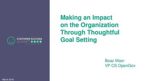 Making an Impact on the Organization Through Thoughtful Goal Setting