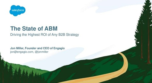 The State of ABM: Driving the Highest ROI of Any B2B Strategy  |  Engagio