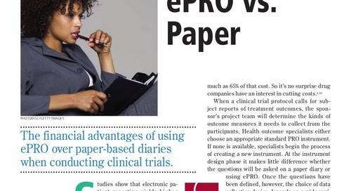 ePRO vs. Paper: Applied Clinical Trials