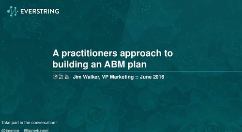 A Practitioner's Approach to Building an ABM Plan