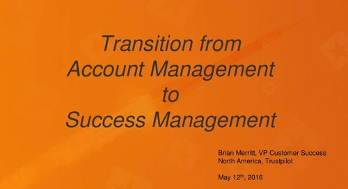 Transition From Account Management To Success Management