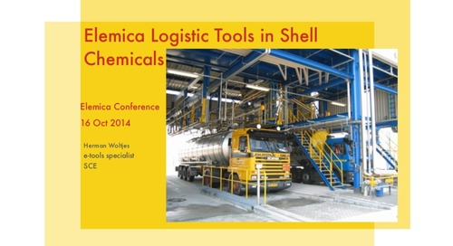 "reveal2014 EU Logistics Breakout – Herman Woltjes, Shell Chemicals: ""Logistics Execution"""