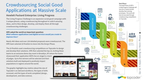 Hewlett Packard Enterprise: Crowdsourcing Social Good Applications at Massive Scale