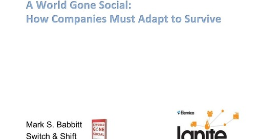 "Ignite 2015 NA - Mark Babbitt - ""A World Gone Social: How Companies Must Adapt to Survive"""