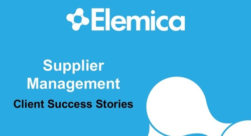"Ignite2015 EU Procurement Breakout ""Supplier Management: Client Success Stories"" Slides"
