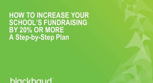 Increasing Your School's Fundraising by 20% or More