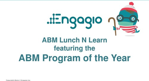 Engagio & VersionOne - ABM Program of the Year