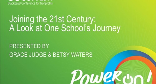 Joining the 21st Century: A Look at One School's Data Journey