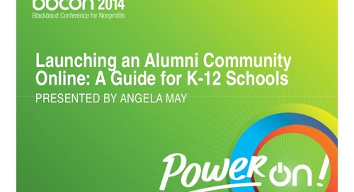 Launching an Alumni Community Online