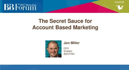 Secret Sauce for Account Based Marketing (ABM)