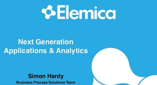 "reveal2014 EU Technology Breakout – Simon Hardy, Elemica: ""Next Generation Apps and Analytics"""