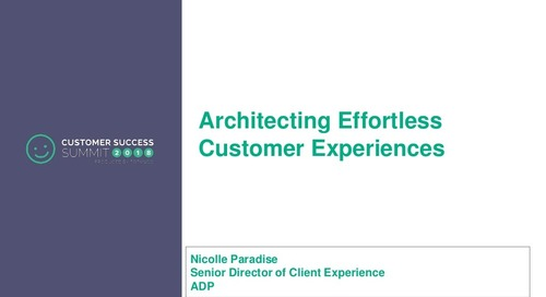 Architecting Effortless Customer Experiences