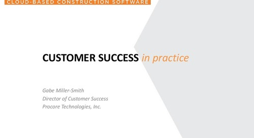 Customer Success in Practice presented by Procore at Totango Tour