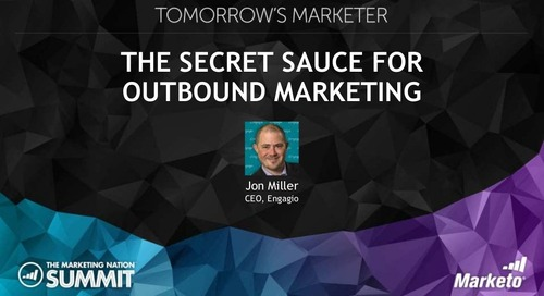 Secret Sauce for Outbound Marketing and Account Based Everything