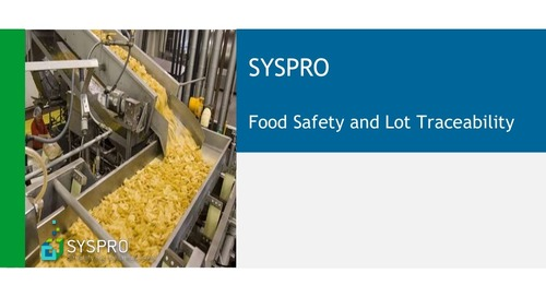 SYSPRO For Food and Beverage Processors