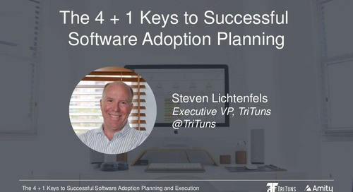 The 4 + 1 Keys to Successful Software Adoption Webinar Slides