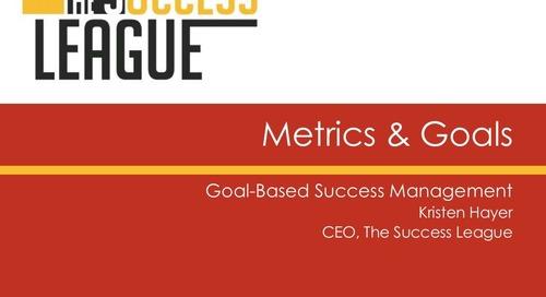 Metrics & Goals - Goal Based Management