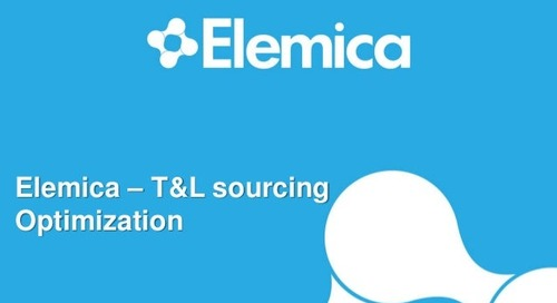 "reveal2014 EU Procurement Breakout – Michel Verberne, Elemica: ""T&L Sourcing Optimization"""
