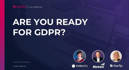 Are You Ready for GDPR? Slide Deck