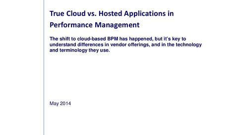 White Paper: True Cloud vs. Hosted Applications