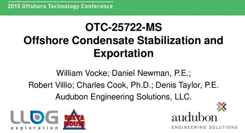 Condensate Stabilization and Exportation - OTC 2015 Technical Session Presentation