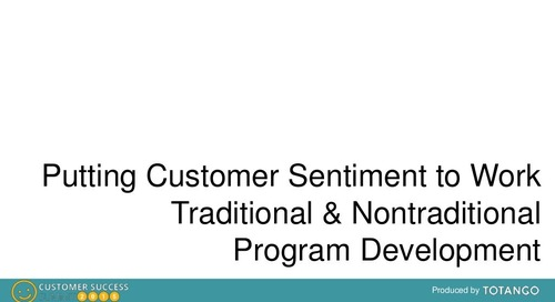 USING CUSTOMER SENTIMENT AS A COMPONENT OF CUSTOMER HEALTH