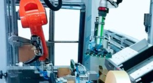 Kompakter Roboter bringt Flexibilität ins Kartonhandling