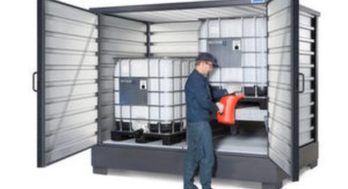Denios bringt neue Regallager für Gefahrstoffe
