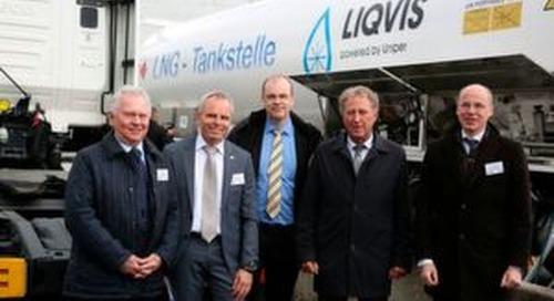 Erste LNG-Tankstelle in Berlin eröffnet