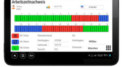 Tachofresh erleichtert Fahrern mobiles Arbeiten