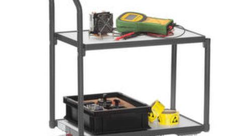 ESD-Wagen bewegen elektronische Bauteile sicher