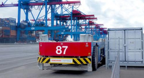 Containertransporter nutzen Li-Ion-Batterien